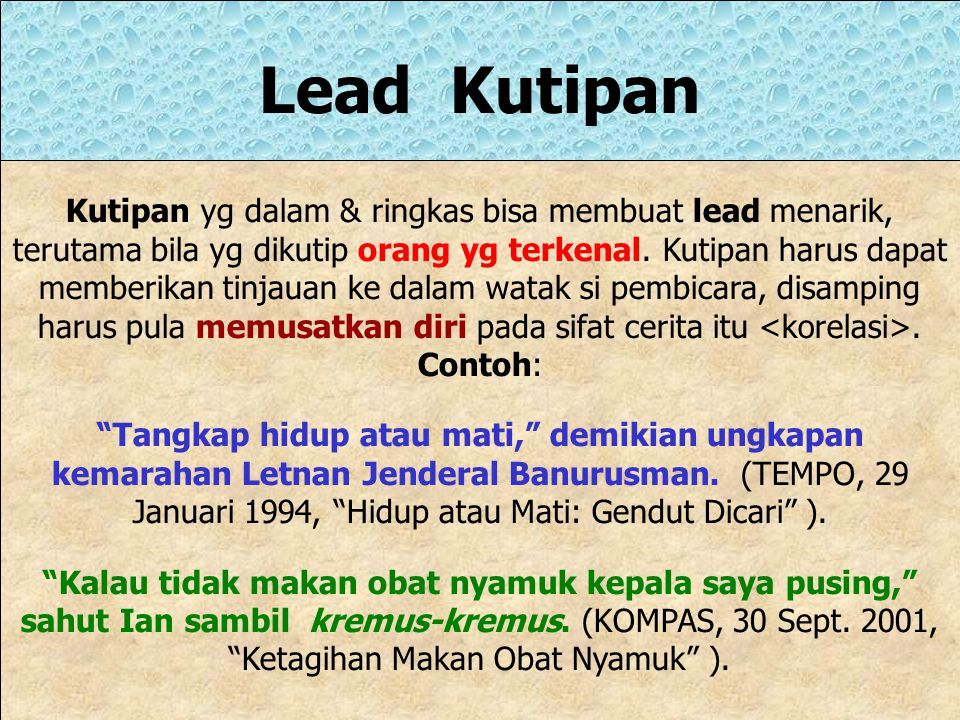Lead Kutipan