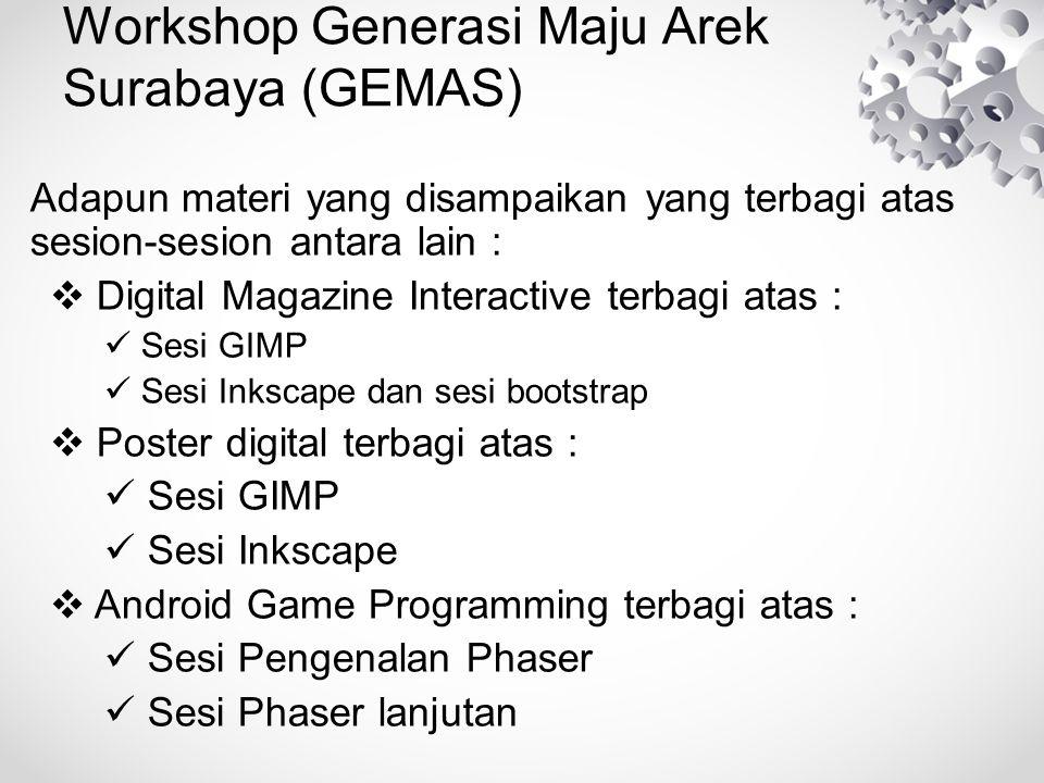 Workshop Generasi Maju Arek Surabaya (GEMAS)