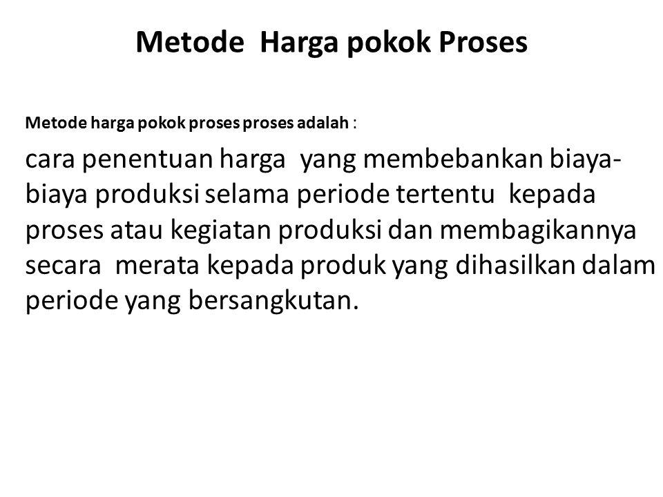 Metode Harga pokok Proses