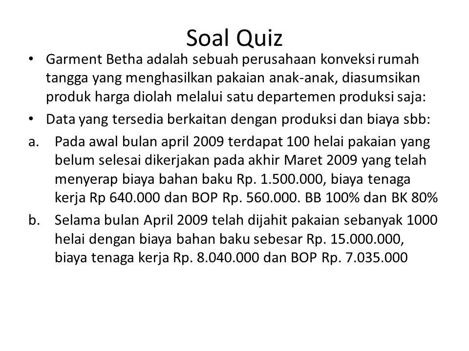 Soal Quiz