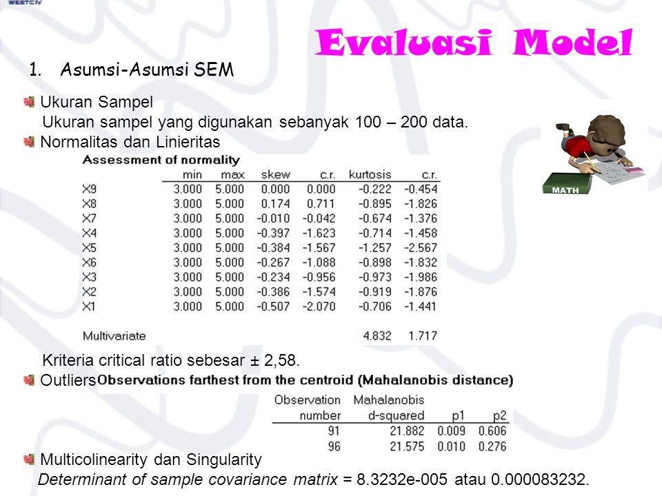 Evaluasi Model Asumsi-Asumsi SEM Ukuran Sampel