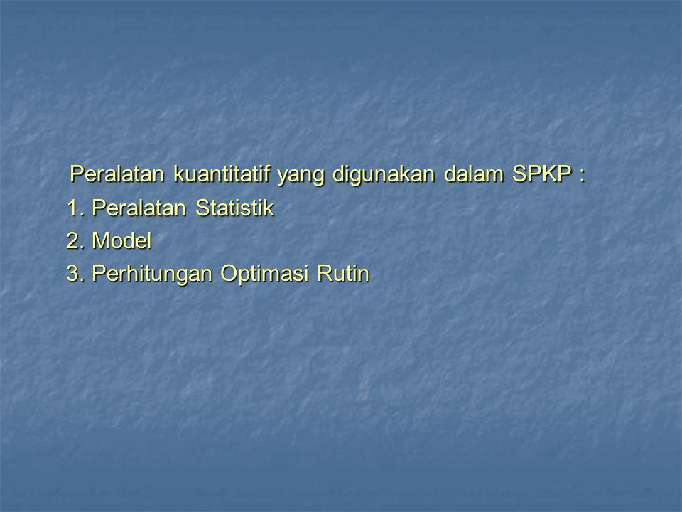 Peralatan kuantitatif yang digunakan dalam SPKP :