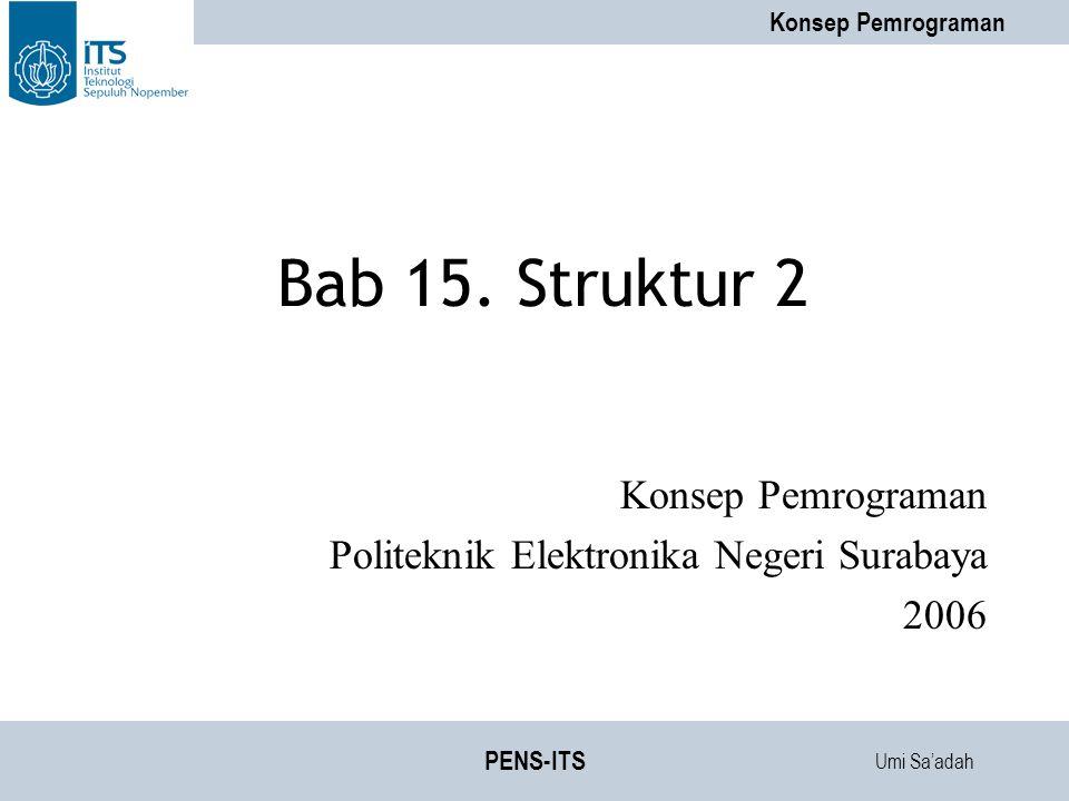 Konsep Pemrograman Politeknik Elektronika Negeri Surabaya 2006