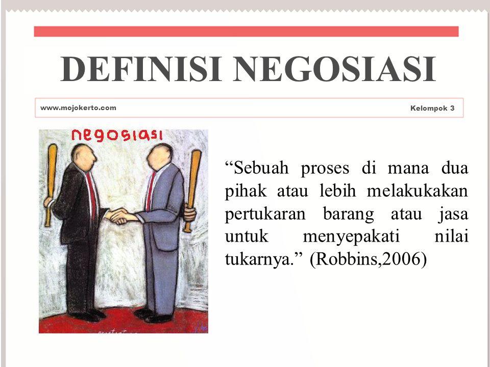 DEFINISI NEGOSIASI www.mojokerto.com. Kelompok 3.