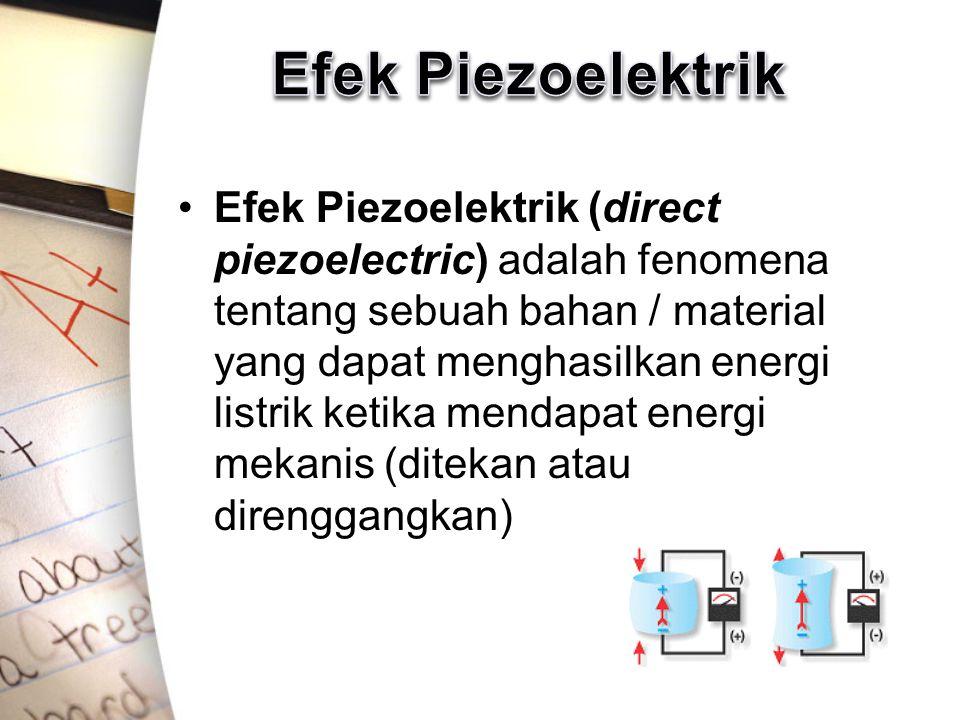 Efek Piezoelektrik