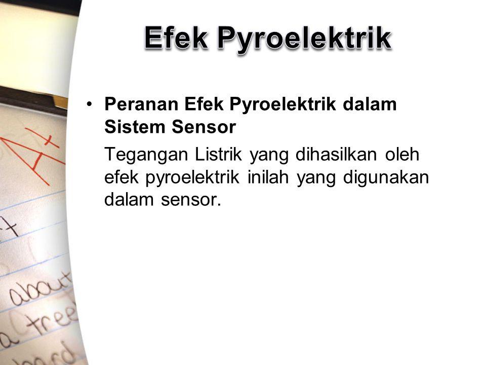 Efek Pyroelektrik Peranan Efek Pyroelektrik dalam Sistem Sensor