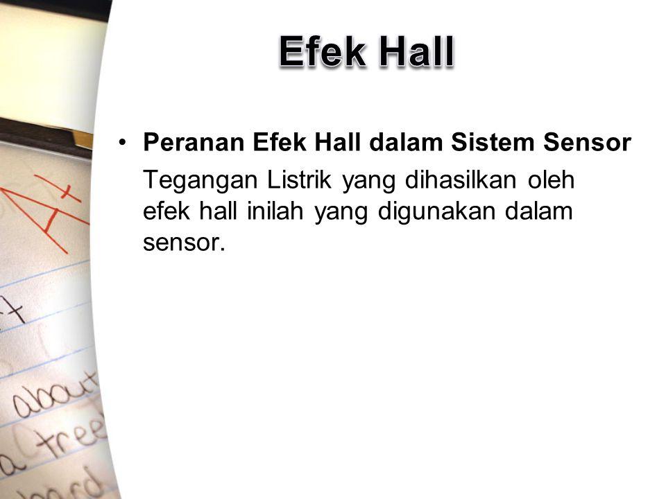 Efek Hall Peranan Efek Hall dalam Sistem Sensor