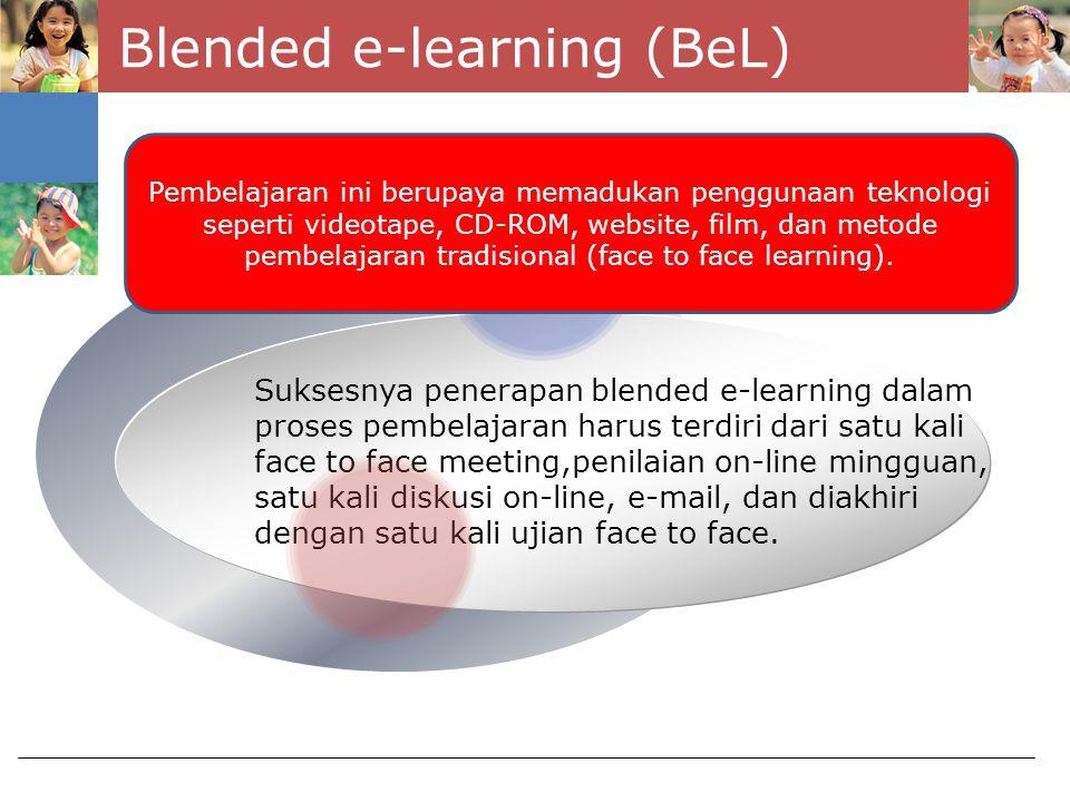 Blended e-learning (BeL)