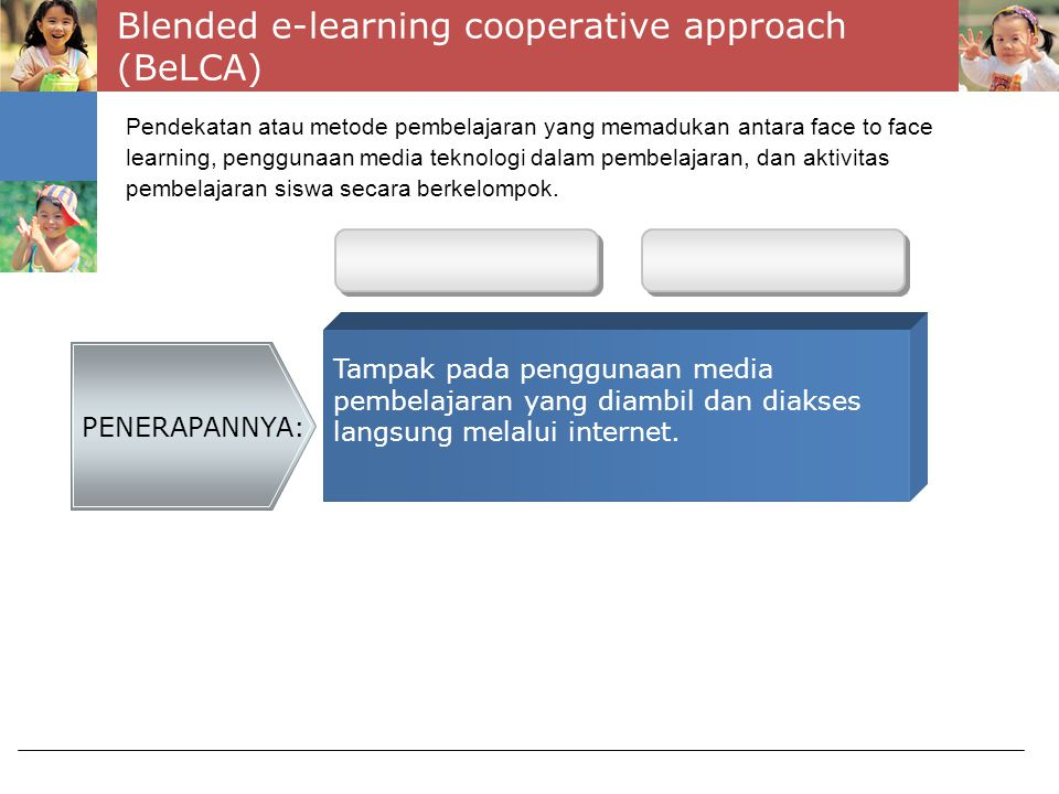 Blended e-learning cooperative approach (BeLCA)