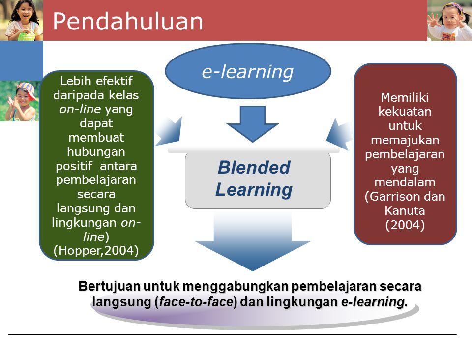 Pendahuluan e-learning Blended Learning