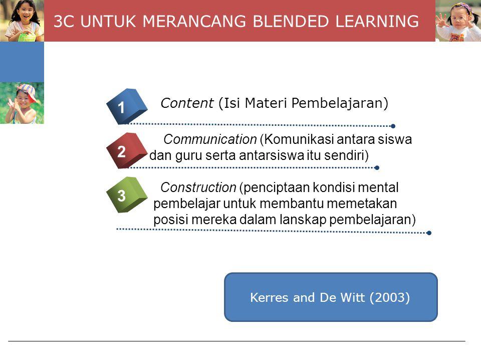 3C UNTUK MERANCANG BLENDED LEARNING