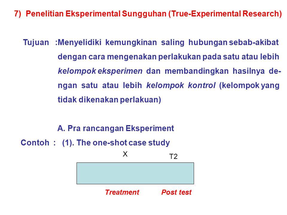 7) Penelitian Eksperimental Sungguhan (True-Experimental Research)