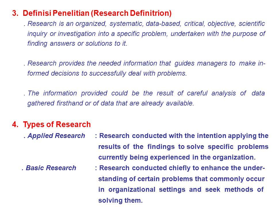 3. Definisi Penelitian (Research Definitrion)