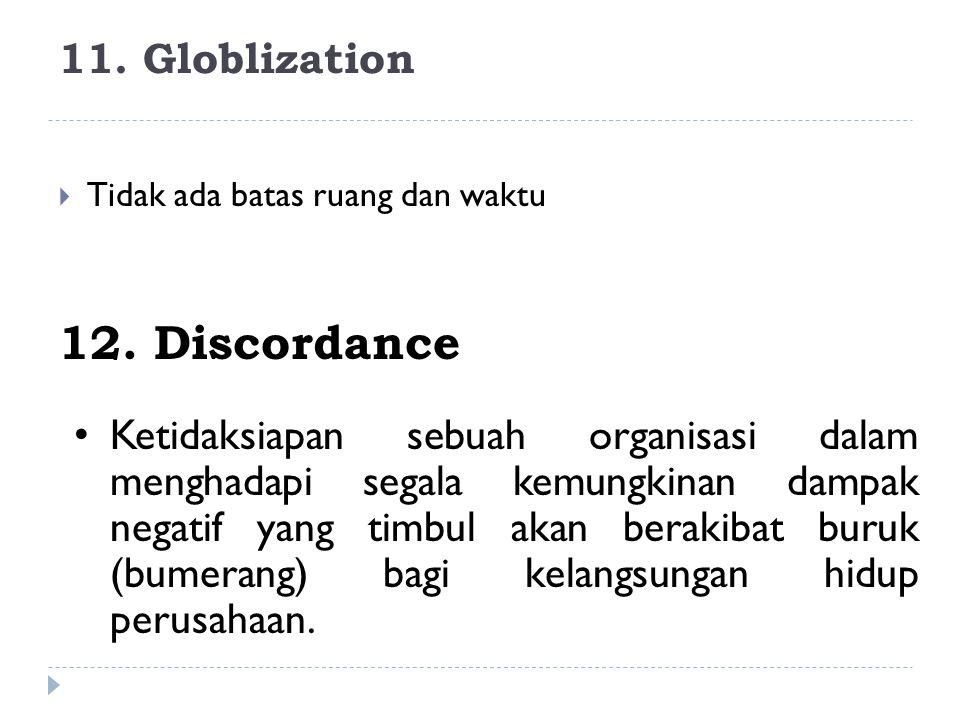 12. Discordance 11. Globlization