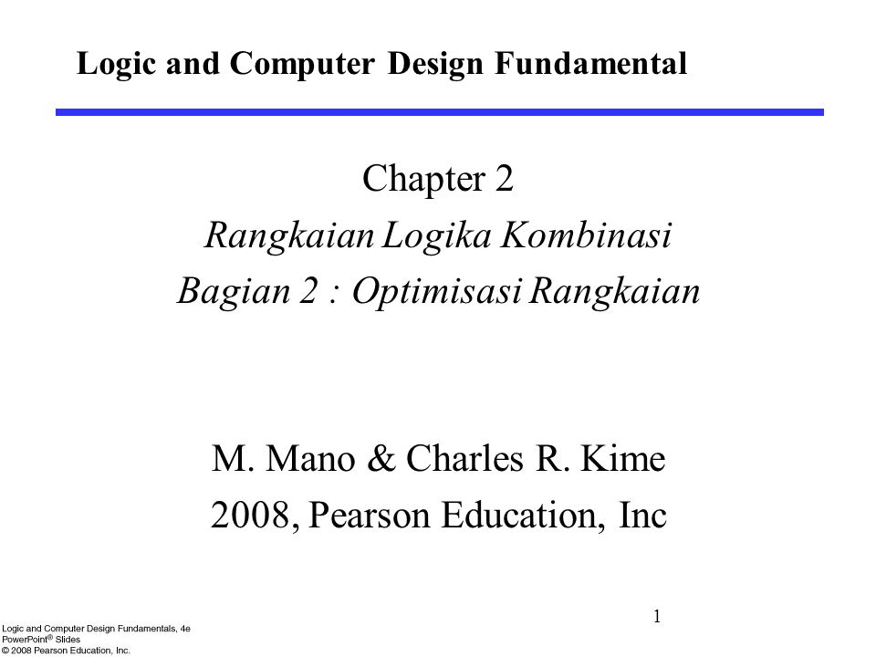 Logic and Computer Design Fundamental