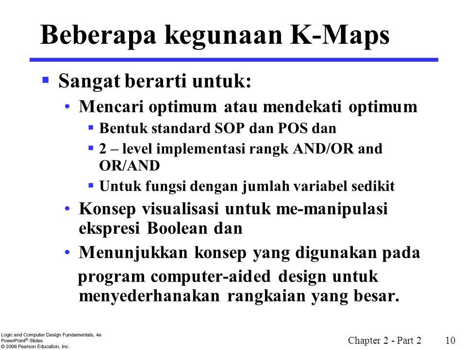 Beberapa kegunaan K-Maps