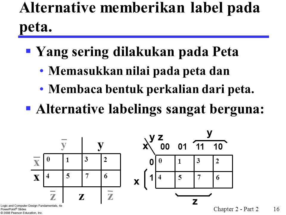 Alternative memberikan label pada peta.