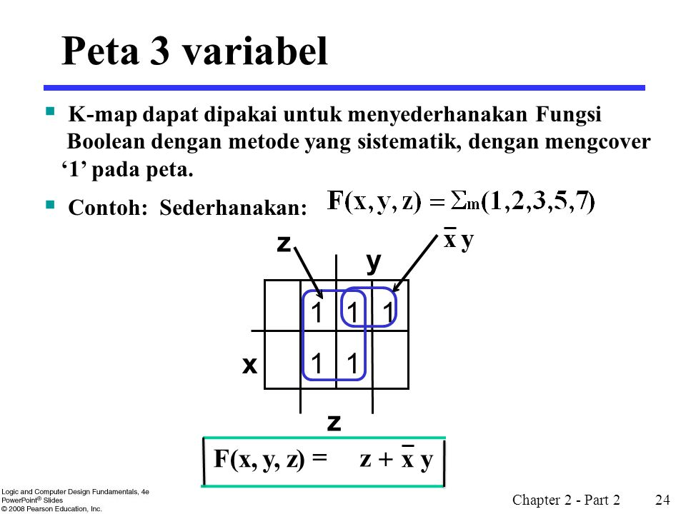 Peta 3 variabel y 1 x z z y x + F(x, y, z) =
