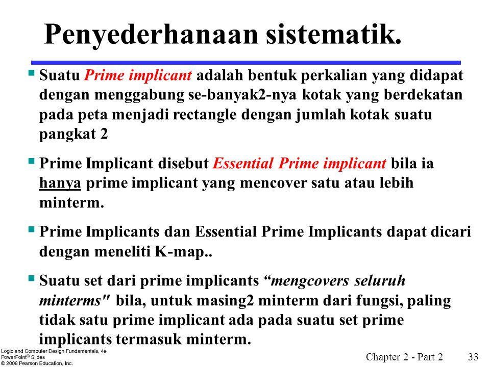 Penyederhanaan sistematik.
