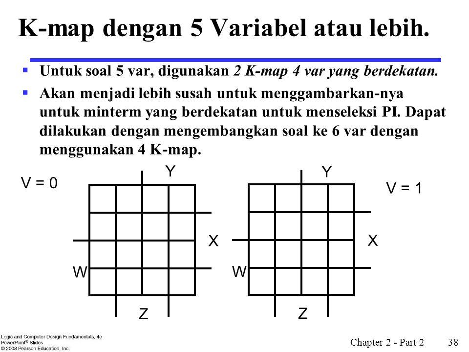 K-map dengan 5 Variabel atau lebih.