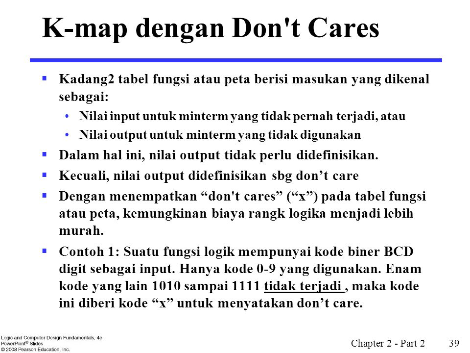 K-map dengan Don t Cares