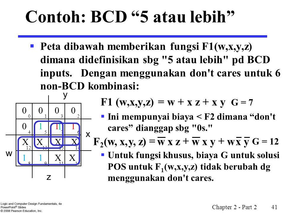 Contoh: BCD 5 atau lebih