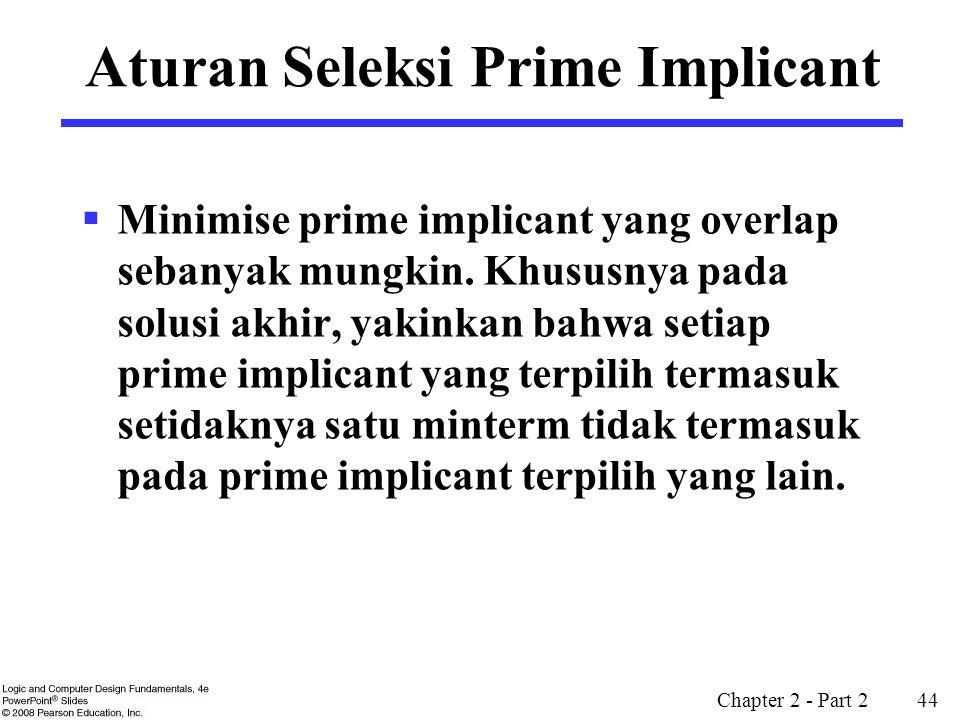 Aturan Seleksi Prime Implicant