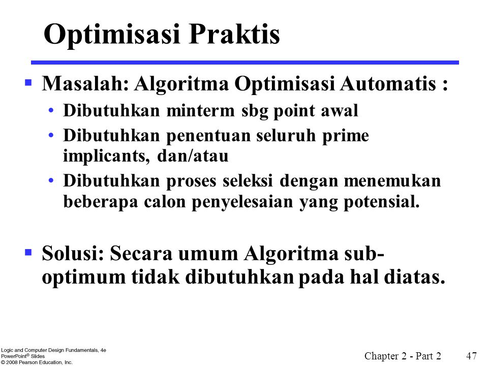 Optimisasi Praktis Masalah: Algoritma Optimisasi Automatis :