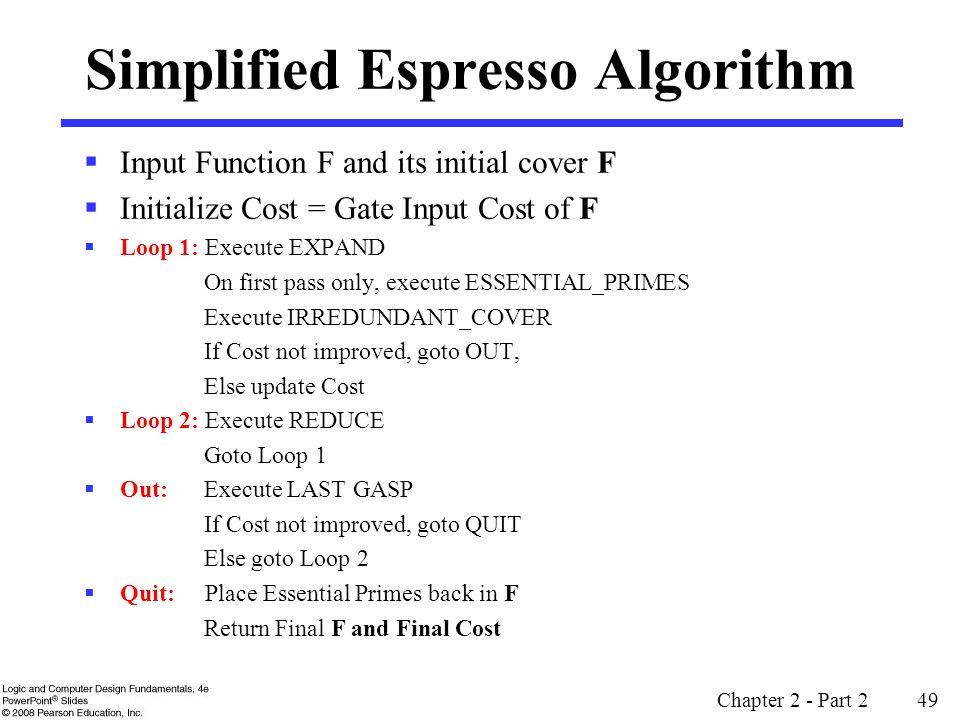 Simplified Espresso Algorithm