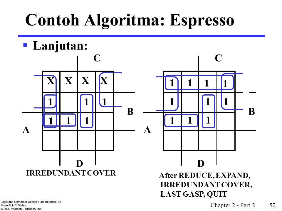 Contoh Algoritma: Espresso