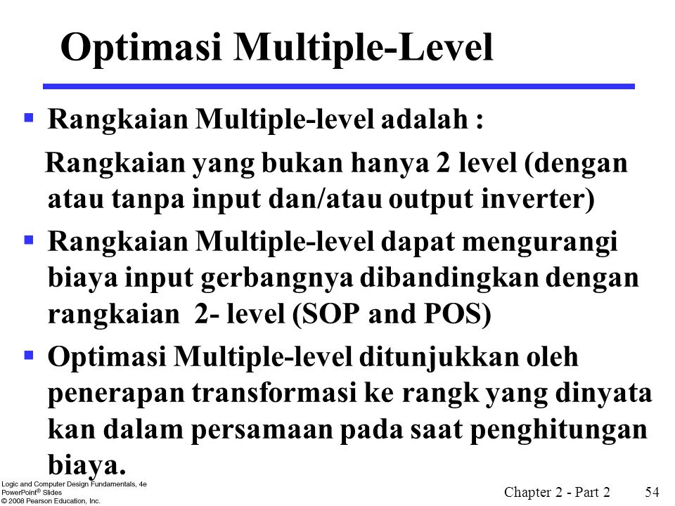 Optimasi Multiple-Level