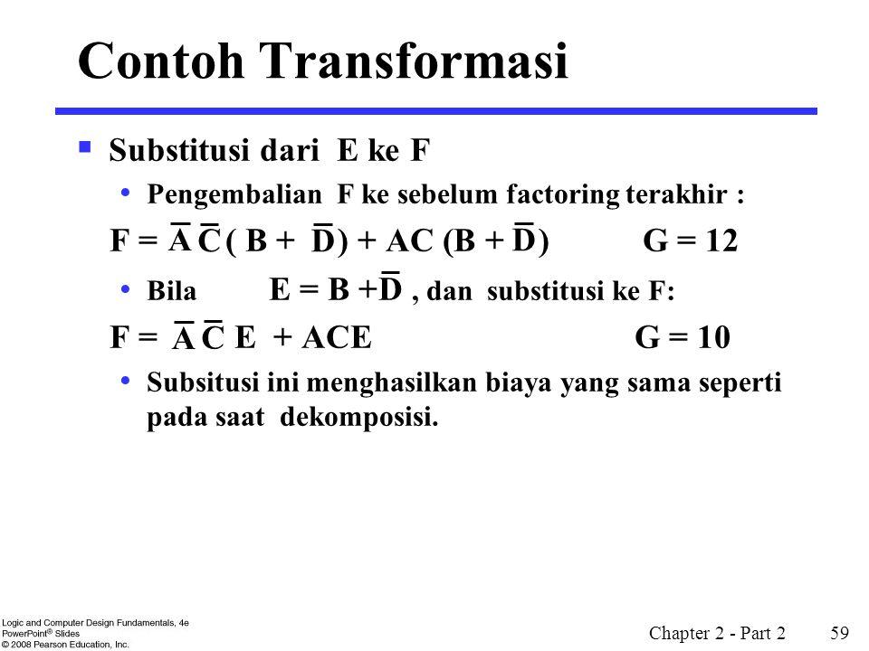Contoh Transformasi Substitusi dari E ke F