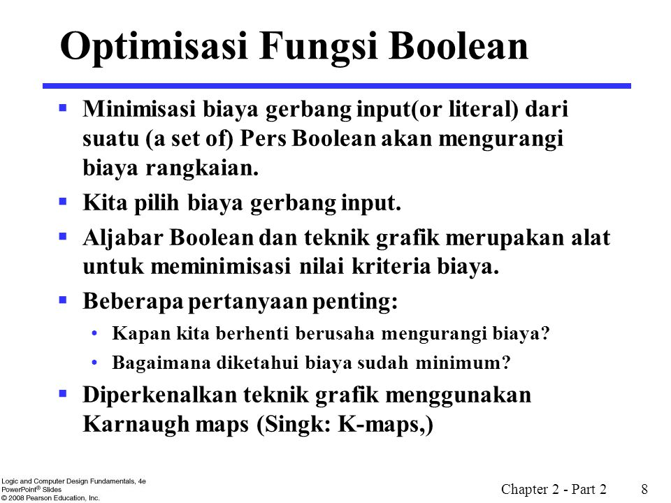 Optimisasi Fungsi Boolean