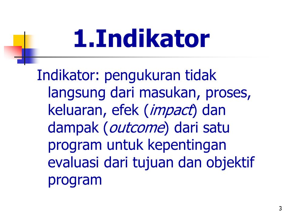 1.Indikator