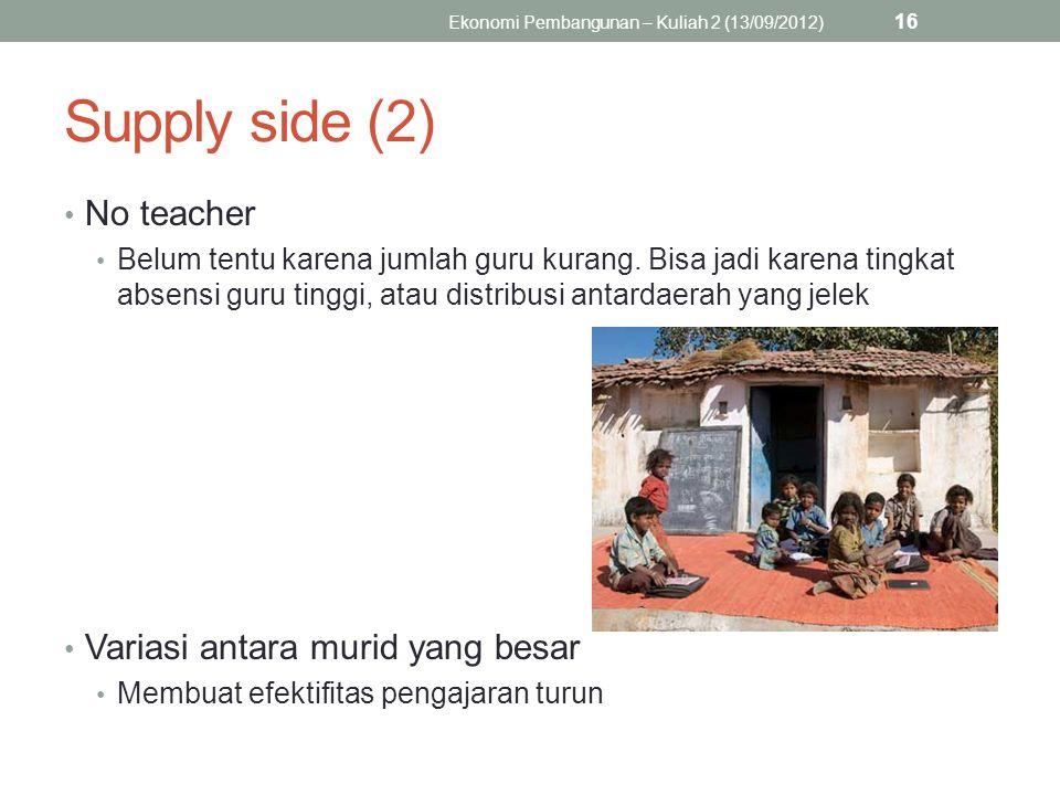 Ekonomi Pembangunan – Kuliah 2 (13/09/2012)