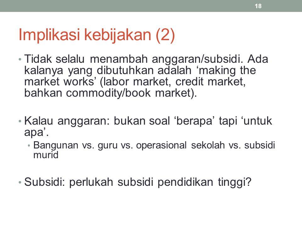 Implikasi kebijakan (2)