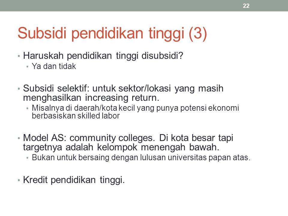 Subsidi pendidikan tinggi (3)