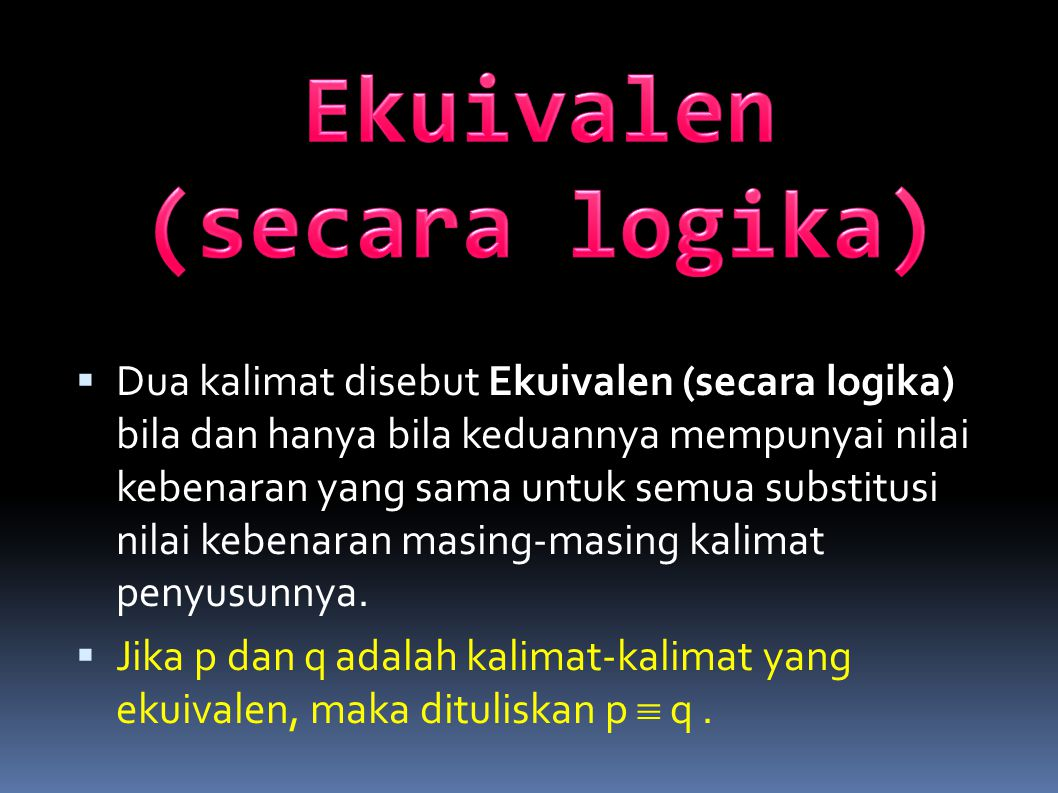 Ekuivalen (secara logika)