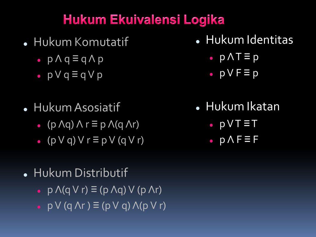Hukum Ekuivalensi Logika