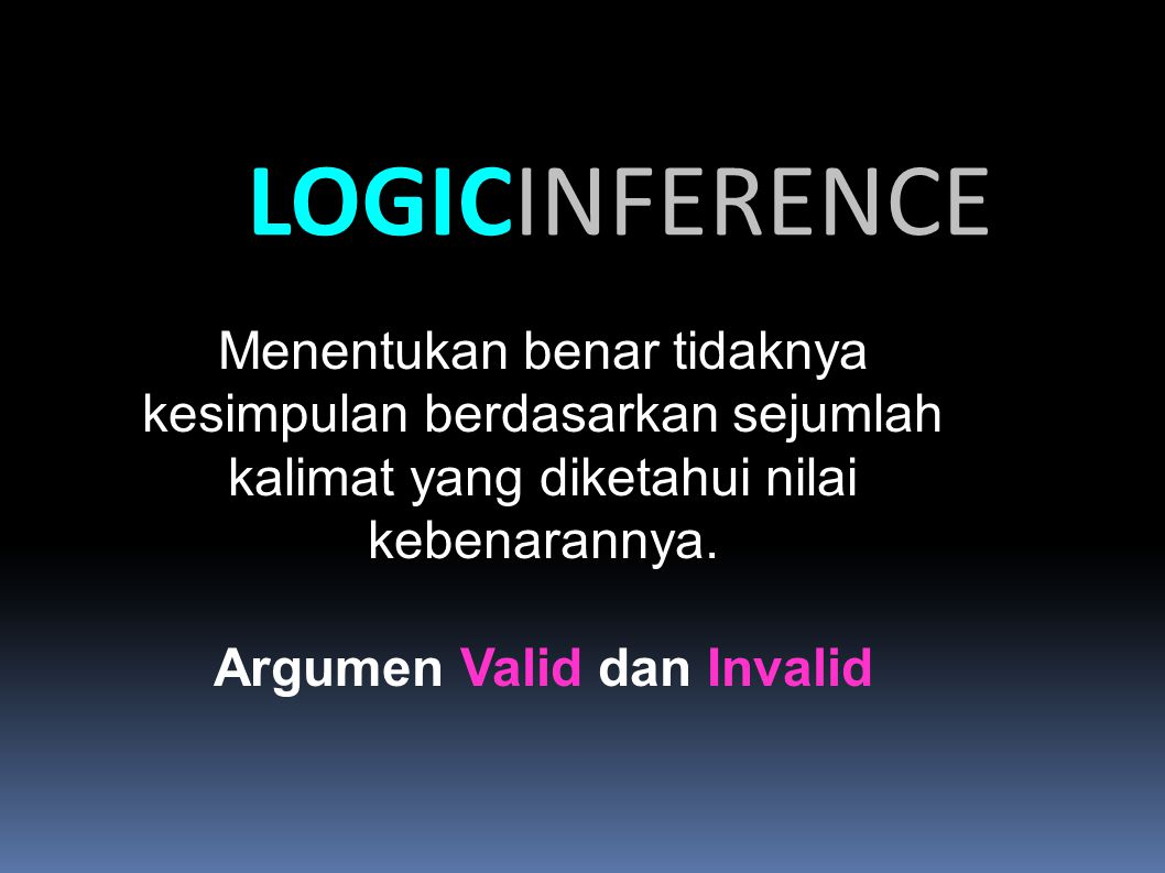 Argumen Valid dan Invalid