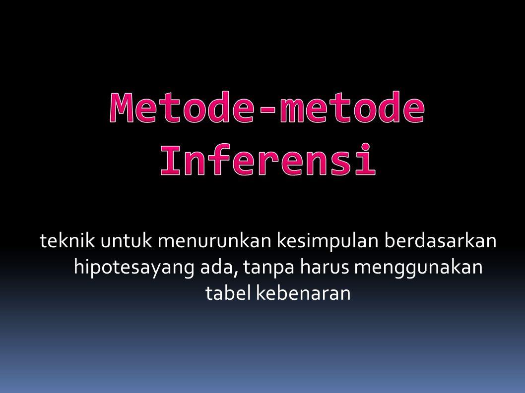 Metode-metode Inferensi