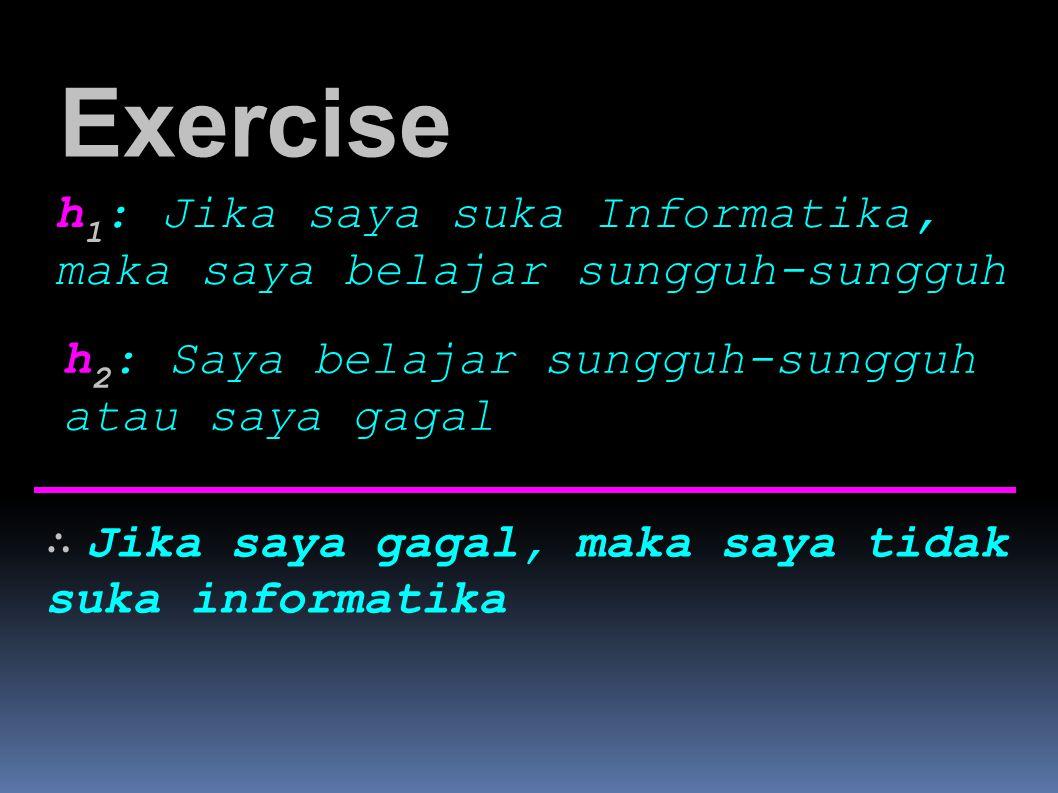 Exercise h1: Jika saya suka Informatika,