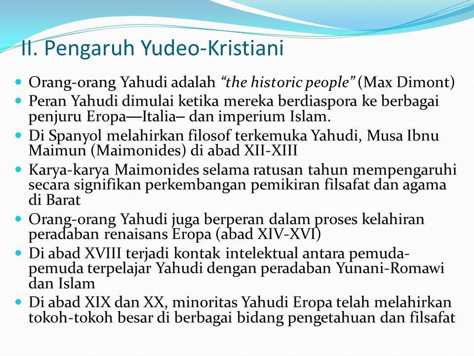 II. Pengaruh Yudeo-Kristiani