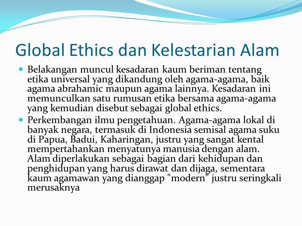 Global Ethics dan Kelestarian Alam