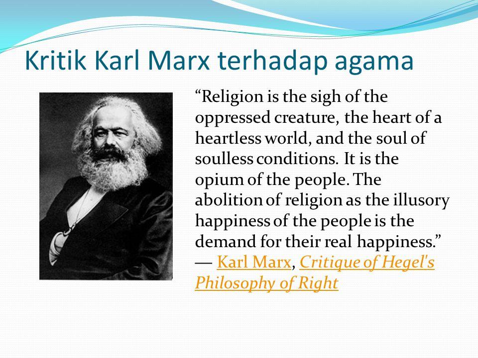 Kritik Karl Marx terhadap agama