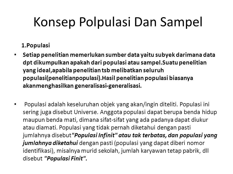 Konsep Polpulasi Dan Sampel