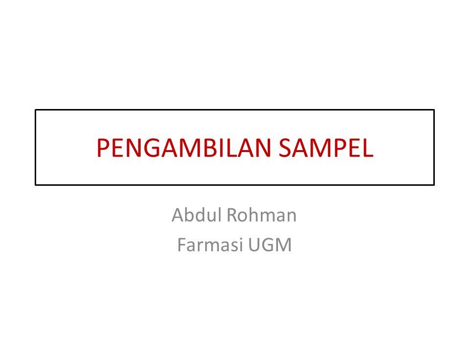 Abdul Rohman Farmasi UGM