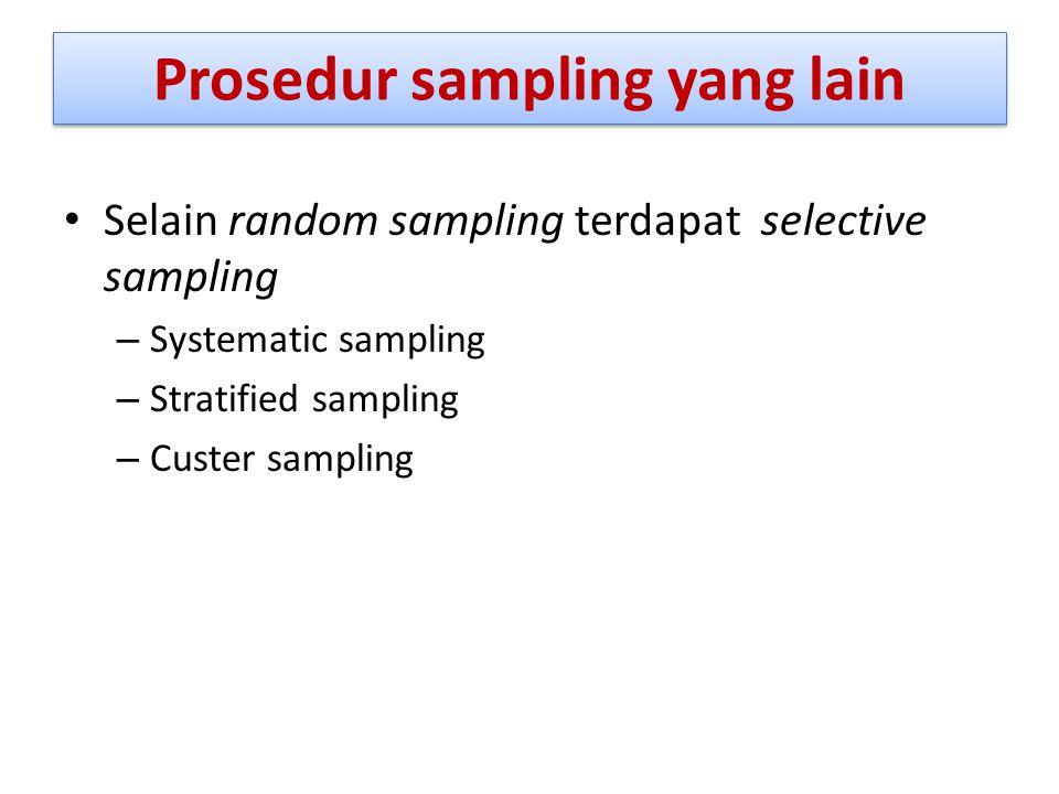 Prosedur sampling yang lain