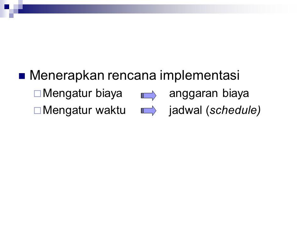 Menerapkan rencana implementasi