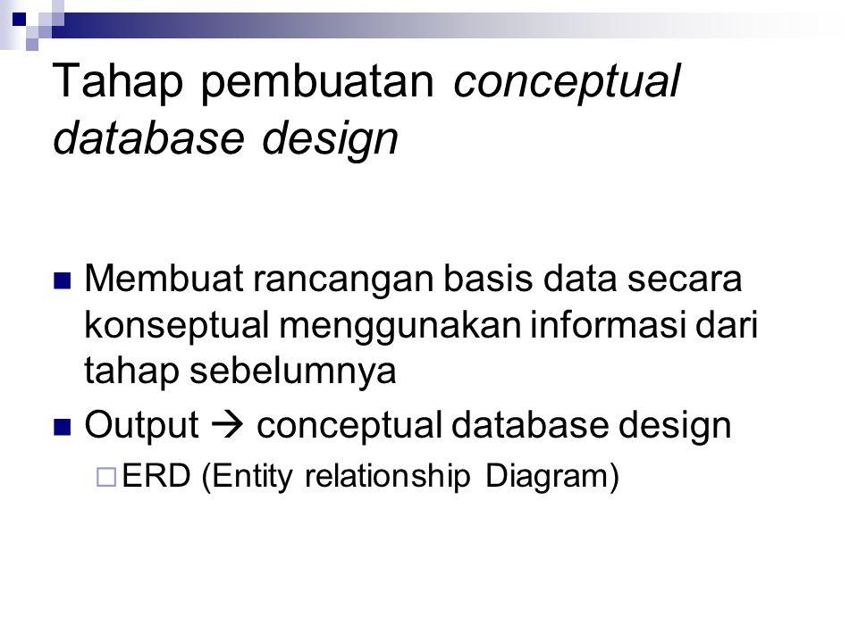 Tahap pembuatan conceptual database design